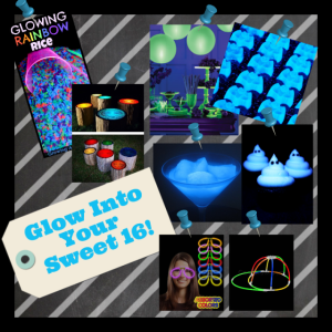 Glow Into Your Sweet 16 Inspiration Board