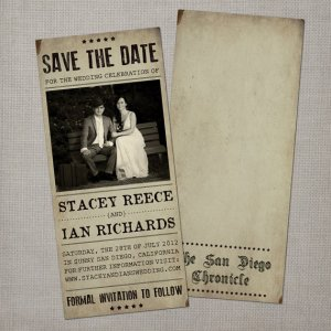 save the date newspaper article