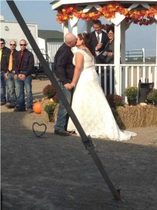 Mr. and Mrs. Ben and Annie Orris, Saturday, September 20, 2014, Castle Farms, McDonald